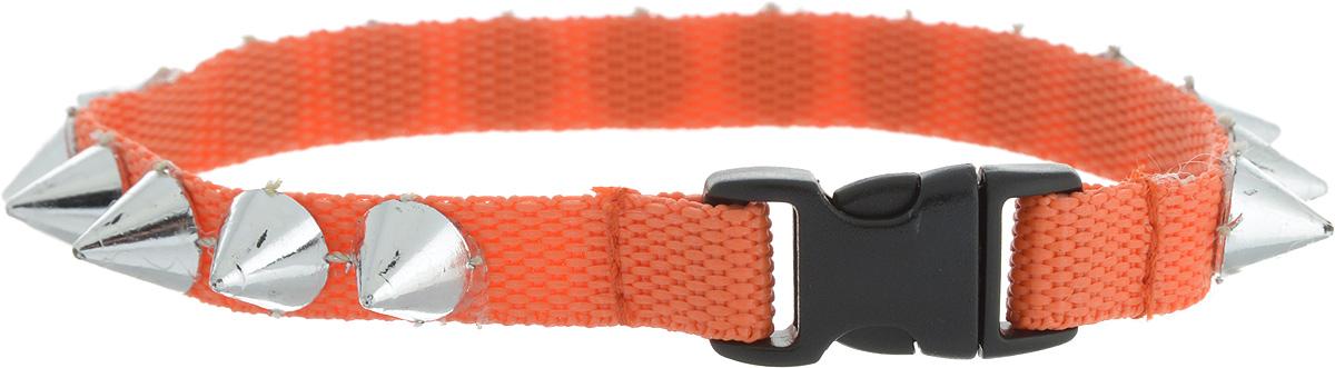 Ошейник для животных GLG Рокер, цвет: оранжевый, размер 1 х 25 см0120710Ошейник для животных GLG Солнечный зайчик изготовлен из нейлона и высококачественного пластика. Сверхпрочные нити делают ошейник надежным и долговечным. Ошейник оформлен декоративнымиэлементами в виде шипов.Длина ошейника: 25 см. Ширина ошейника: 1 см.