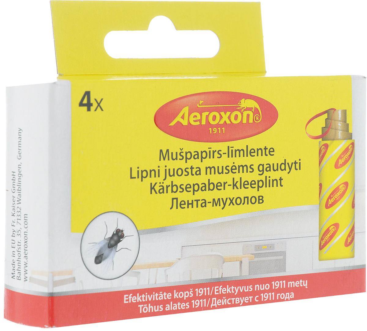 Липкая лента от мух Aeroxon, 4 шт91262Эффективное средство защиты от комаров и насекомых.Экологическая основа данного средства делает его полностью безопасным для Вашего окружения.Поможет быстро и качественно избавится от вредителей при этом не требует никаких энергозатрат.Состав: целлюлоза, клей. Комплектация: 4 ленты.