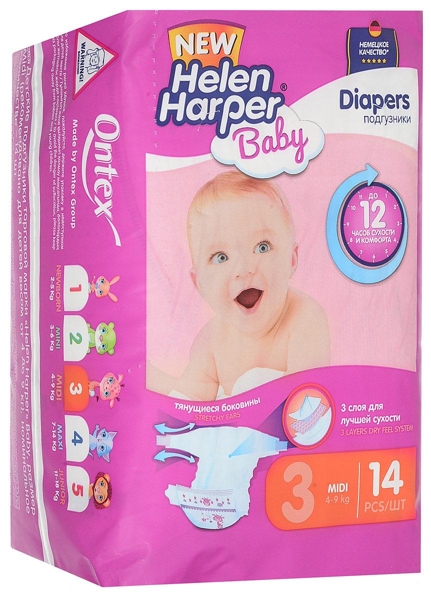 Helen Harper Подгузники Baby 4-9 кг (размер 3) 14 шт