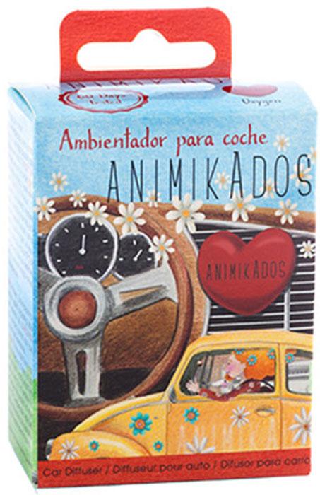 Ароматизатор автомобильный Ambientair Corazon. AnimikautoCA-3505Симпатичный диффузор в виде сердца украсит салон любого автомобиля. Аромат граната, смешанный с нежными розами и грейпфрутом, напоминает о любви, доброте и простой человеческой сердечности. Второй такой же вариант можно подарить своей половинке, чтобы сохранить приятные воспоминания о счастливых минутах.Диффузор упакован в красивую коробку. Одним движением фиксируется к вентиляционным каналам и сразу же начинает источать изысканный аромат.