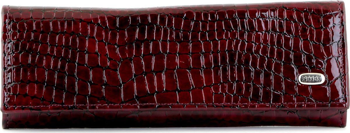 Ключница Petek 1855, цвет: бургундия. 519.091.0339864|Серьги с подвескамиМужской футляр для ключей(ключница) Petek из натуральной кожи цвета бургундии с гладкой фактурой: одно отделение, карабины на 4 ключа
