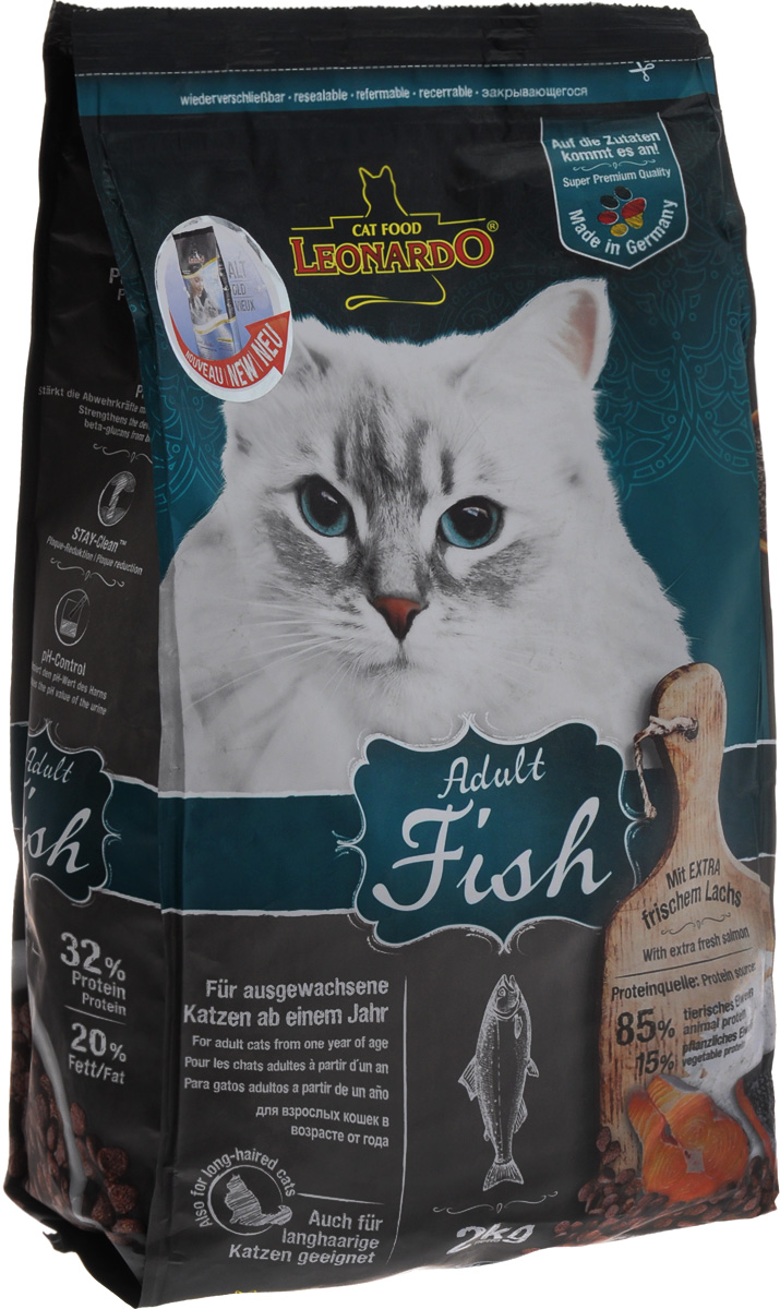 Корм сухой Leonardo Adult Sensetive для взрослых кошек от 1 года, на основе морской рыбы и риса, 2 кг48812Сухой корм Leonardo Adult Sensetive предназначен для взрослых кошек с чувствительным пищеварением. С добавлением вкусного криля (креветок). За счет высокого содержания Омега-3 и Омега-6 жирных кислот улучшает качество кожи ишерсти. Снижает образование зубного камня и зубного налета. Корм обладает профилактикой мочекаменной болезни и подходит для кастрированных и стерилизованных котов и кошек.Состав: мука сельди 17%, сухое мясо птицы пониженной зольности 15%, рис 15%, кукуруза, жир домашней птицы, морепродукты (криль 4%), рожь, яичный порошок, пивные дрожжи 2,5%, гидролизат печени птицы, вытяжка из виноградной косточки, цареградский сухой стручок 1,25%, льняное семя, поваренная соль, инулин.Добавки: витамин А 15000 МЕ, витамин D3 1500 МЕ, витамин Е 150 мг, витамин C (как аскорбил монофосфаты) 245 мг, таурин 1400 мг, медь (как медь-(ll)-сульфат, пентагидрат) 15 мг, железо (в форме железа ll сульфат) 200 мг, железо (в форме оксид железа lll) 385 мг, марганец (как двуокись марганца) 50 мг, цинк (как окись цинка) 150 мг, йод (как йодат кальция) 2,5 мг, селен (в форме селен натрия) 0,15 мг, лецитин 2000 мг, экстракты натурального происхождения с высоким содержанием токоферола (= натуральный витамин Е) 80 мг.Содержание: протеин 32%, жиры 20%, сырая зола 7,5%, клетчатка 1,9%, влага 10%, кальций 1,1%, фосфор 0,9%, натрий 0,4%, магний 0,09%.Товар сертифицирован.