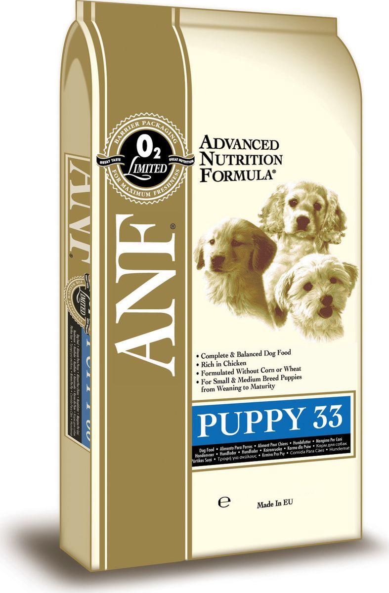 Корм сухой ANF Puppy 33 для щенков, беременных и кормящих собак, 3 кг0120710Великолепный вкус и небольшие размеры гранул, специально для щенков. Прекрасно сбалансированный состав для правильного роста щенков мелких пород (до 10 кг) и средних пород. Отличный выбор в качестве первого корма для щенков средних и крупных пород, отлучаемых от матери (возрастом до 4 месяцев). Достаточное количество белков и кальция для здорового роста. Рацион подходит для щенков крупных пород в период от начала прикорма до 4-х месяцев (далее использовать рацион Junior 28). Рацион рекомендован беременным и кормящим сукам.Состав: куриная мука (мин. 45%), дробленый белый рис, куриный жир (содержащий консерванты из токоферолов), овес, свекловичный жом, яичный порошок, рыбная мука, льняное семя, соус из куриной печени, карбонат кальция, хлорид калия, рыбий жир, хлорид натрия, холинхлорид, пивные дрожжи, смесь токоферола (витамин Е) (альфа-токоферола ацетат), экстракт Yucca Schidigera, аскорбил монофосфат, сульфат железа, сульфат цинка, сульфат марганца, сульфат меди, смесь витамина В12, смесь витамина А (ретинилацетат), витамин РР, смесь селенита натрия, смесь витамина D3 (холекальциферол), смесь витамина Н (биотин), пантотенат кальция, витамин В1 (тиамина мононинрат), смесь витмина В2 (рибофлавин), витамин В6 ( пиридоксина гидрохлорид), йодат кальция, фолиевая кислота. Гарантированный состав: белок - 33%, жир - 18%, сырая зола - 9,5%, сырая клетчатка - 3,5%, влажность - 8%, кальций (Ca) - 2,14%, фосфор (P) - 1,21%, жирные кислоты Омега-6 - 3,03%, жирные кислоты Омега-3 - 0,85%, витамин А - 25,694 МЕ/кг, витамин D3 - 2,292 МЕ/кг, витамин Е - 182 МЕ/кг, витамин С - 185 мг/кг, пентагидрат сульфата меди - 61,11 мг/кг. Энергетическая ценность: 367 ккал/100г.Товар сертифицирован.