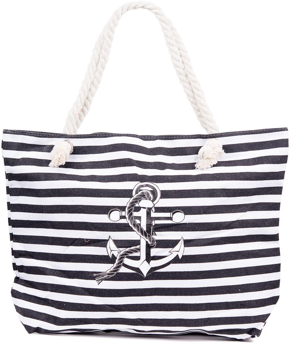 Сумка пляжная женская Nuages, цвет: черный. NS4197/2A-B86-05-CТекстильная сумка с принтом. Может c одинаковым успехом использоваться как пляжная или летняя городская сумка. Одно отделение. Внутренний карман и наружный карман сзади глубина: 10 см; ширина: 45 см; высота:33 см