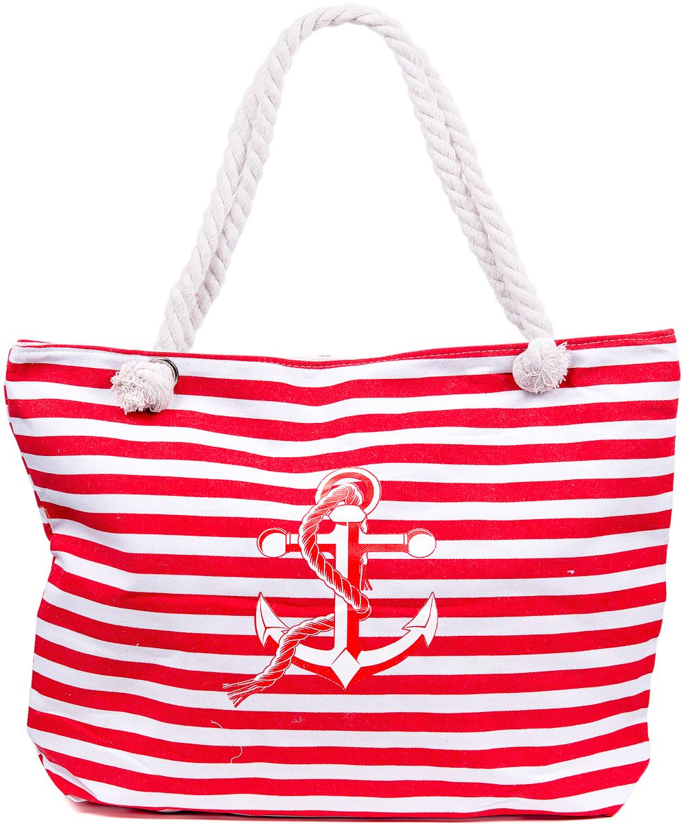 Сумка пляжная женская Nuages, цвет: красный. NS4197/4BM8434-58AEТекстильная сумка с принтом. Может c одинаковым успехом использоваться как пляжная или летняя городская сумка. Одно отделение. Внутренний карман и наружный карман сзади глубина: 10 см; ширина: 45 см; высота:33 см