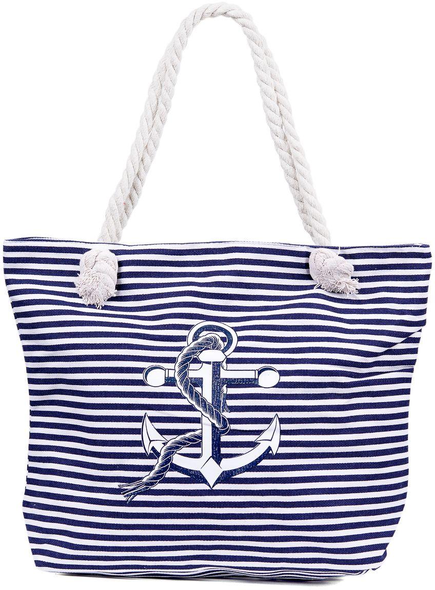 Сумка пляжная женская Nuages, цвет: темно-синий. NS4198/1A-B86-05-CТекстильная сумка с принтом. Может c одинаковым успехом использоваться как пляжная или летняя городская сумка. Одно отделение. Внутренний карман и наружный карман сзади глубина: 10 см; ширина: 45 см; высота:33 см