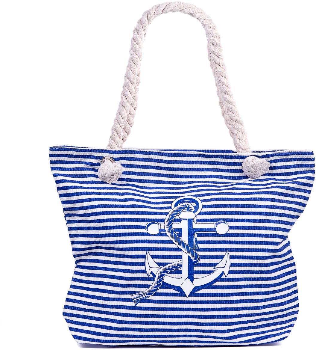Сумка пляжная женская Nuages, цвет: синий. NS4198/310130-11Текстильная сумка с принтом. Может c одинаковым успехом использоваться как пляжная или летняя городская сумка. Одно отделение. Внутренний карман и наружный карман сзади глубина: 10 см; ширина: 45 см; высота:33 см