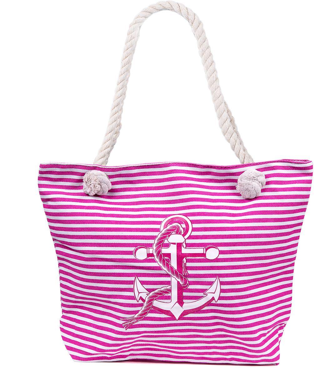 Сумка пляжная женская Nuages, цвет: розовый. NS4198/5101248Текстильная женская сумка Nuages с морским принтом может c одинаковым успехом использоваться как пляжная или летняя городская сумка. У сумки одно отделение, внутренний карман и наружный карман сзади.Размер: 33 х 45 х 10 см.