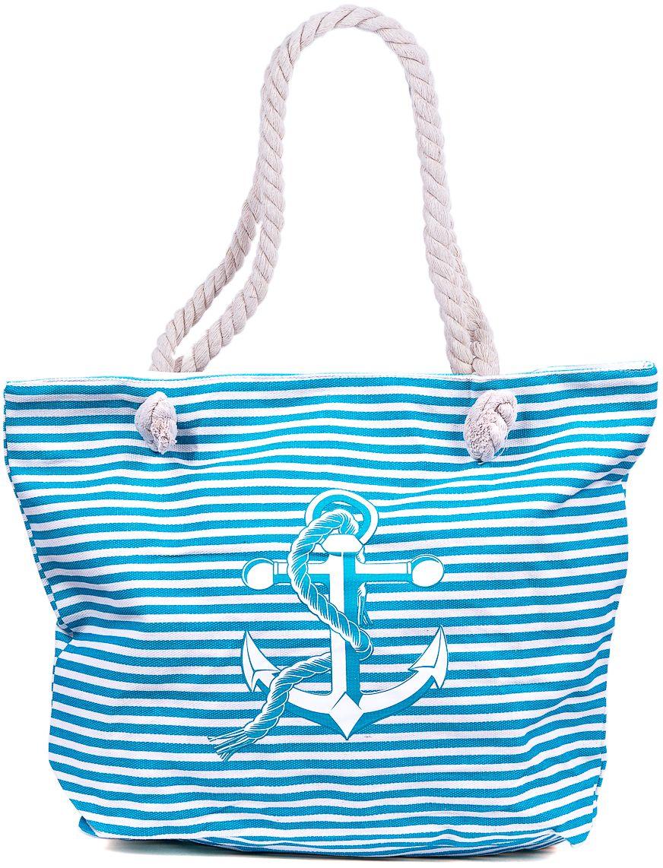 Сумка пляжная женская Nuages, цвет: бирюзовый. NS4198/6BM8434-58AEТекстильная сумка с принтом. Может c одинаковым успехом использоваться как пляжная или летняя городская сумка. Одно отделение. Внутренний карман и наружный карман сзади глубина: 10 см; ширина: 45 см; высота:33 см