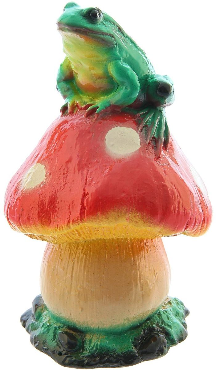 Фигура садовая Premium Gips Жаба на грибе, 14 х 14 х 23 см1148467Фигура садовая Premium Gips Жаба на грибе добавит новые краски в ландшафт сада, расставит нужные акценты: приманит взор к водоёму или привлечёт внимание к цветочной клумбе.Гармоничнее всего лягушки сморятся в местах своего природного обитания: располагайте их рядом с водой или в траве.Фигура из гипса экологичная, лёгкая и долговечная. Она сделает любимый сад неповторимым.