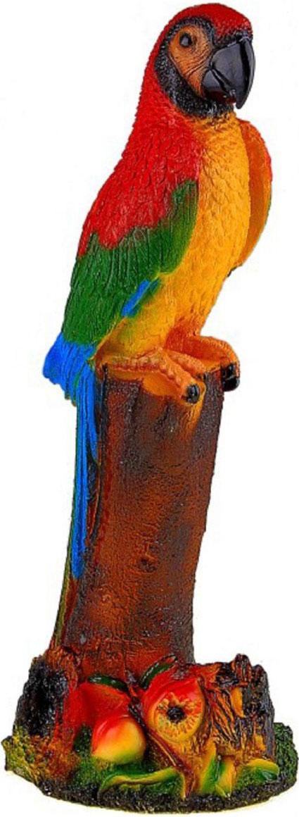 Фигура садовая Попугай, 20 х 14 х 53 см10503Яркая птица придаст саду экзотический вид. Необычный декор выгодно подчеркнёт детали: например, привлечёт внимание к клумбе, водоёму или дереву — просто расположите садовую фигуру рядом с нужным объектом. Фигуры из гипса отличаются лёгкостью, экологичность и долгим сроком службы. При должном уходе они будут выглядеть как новые не один сезон. Сделайте садовый участок оригинальным.