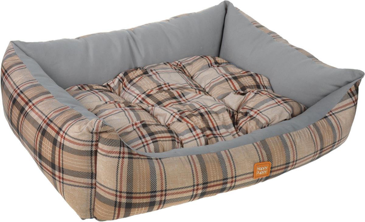 Лежак для собак Happy Puppy Классик-2, цвет: серый, коричневый, 48 х 39 х 15 см0120710Мягкий лежак Happy Puppy Классик-2 обязательно понравится вашему питомцу. Он выполнен из высококачественного хлопка и полиэстера с водоотталкивающей пропиткой, а наполнитель - из мягкого холлофайбера. Такой материал не теряет своей формы долгое время.Лежак оснащен мягкой съемной подстилкой. Высокие бортики обеспечат вашему любимцу уют. За изделием легко ухаживать, его можно стирать вручную. Мягкий лежак станет излюбленным местом вашего питомца, подарит ему спокойный икомфортный сон, а также убережет вашу мебель от шерсти. Размер: 48 x 39 x 15 см.