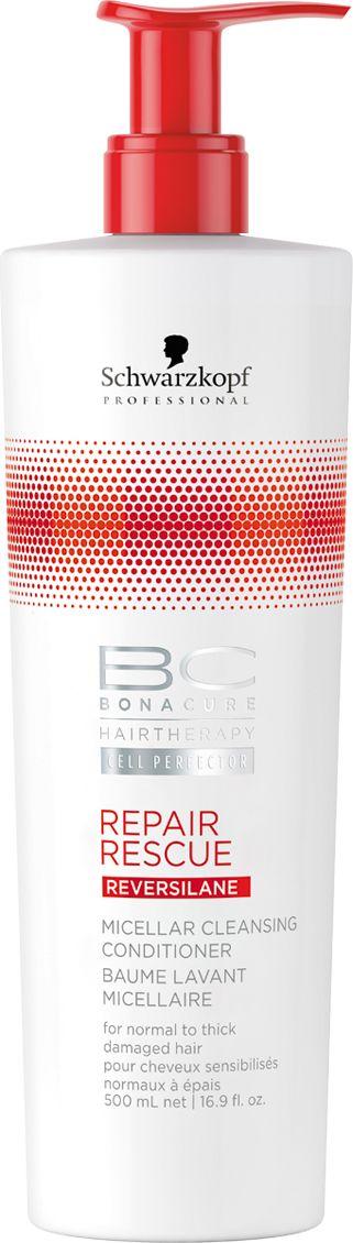 Bonacure Мицеллярный очищающий кондиционер Спасительное восстановление Repair Rescue, 500 мл2163153Первый Мицеллярный Очищающий Кондиционер. Для сухих, поврежденных волос. Мягкая, слабопенящаяся формула без сульфатов очищает и кондиционирует волосы, сохраняя естественный гидробаланс и не перегружая. Формула, обогащенная производной Гиалуроновой кислоты, контролирует уровень увлажнения. Волосы мягкие, блестящие и упругие.