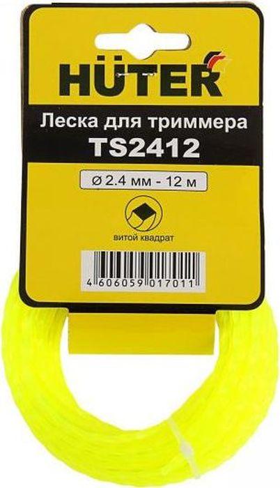 Леска Huter Витой квадрат, 2,4 мм х 12 м. TS24122609256977Сечение лески - витой квадратТолщина лески - 2,4 мм.Длина лески - 12 м.