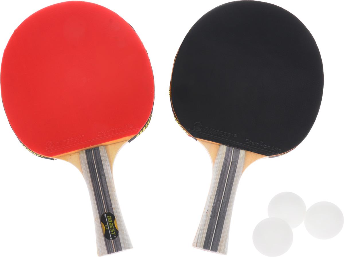 Набор для настольного тенниса Dobest, 5 предметовWRA515701Набор Dobest для настольного тенниса понравится вашему ребенку и надолго займет его внимание. Набор включает в себя 2 ракетки и 3 мяча. Ракетка, изготовленная из прочных качественных материалов, удобно лежит в руке и гарантирует хорошее чувство мяча и наиболее комфортную игру. Подходит для любителей и начинающих игроков.Такая ракетка дает возможность тренировать вращение и скорость и переходить на более высокий уровень игры. Мячи выполнены из высококачественного пластика. Размер ракетки: 25,5 х 15 см. Длина ручки: 10 см.Диаметр мяча: 3,8 см.