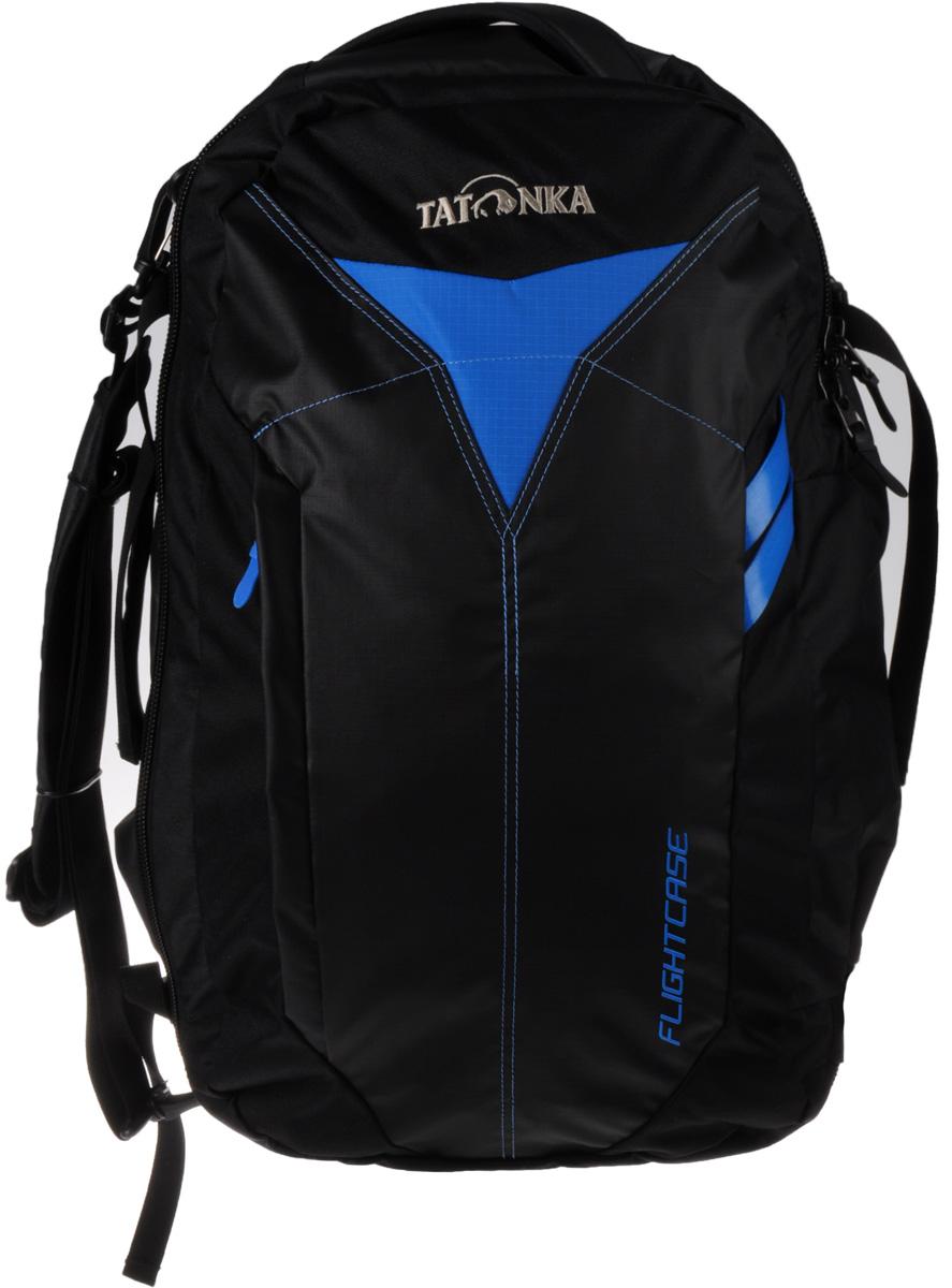 Сумка-рюкзак для путешествий Tatonka Flightcase, цвет: черный, 38 л71069с-2Дорожная сумка-рюкзак Tatonka Flightcase для авиаперелетов. Соответствует требованиям ЕС к размерам ручной клади в самолетах. Переносить можно за ручку, на плече и как рюкзак.Преимущества и особенности:Соответствует требованиям ЕС к размерам ручной клади.Ручки для переноски.Съемный плечевой ремень.Убирающиеся лямки.Функциональное основное отделение.Боковые стяжки.Табличка для имени владельца.Внешний накладной карман.