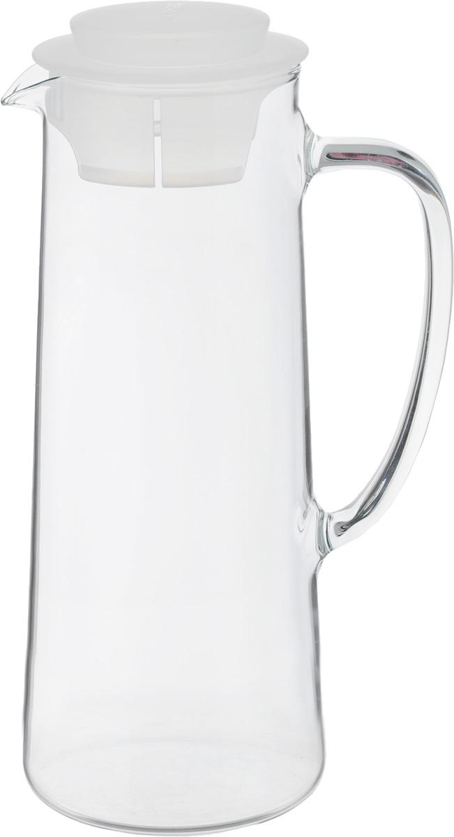 Кувшин для холодильника Tescoma Teo, с крышкой, цвет: прозрачный, белый, 1 л646616_белыйКувшин Tescoma Teo, выполненный из высококачественного прочного стекла, элегантно украсит ваш стол. Кувшин оснащен удобной ручкой и пластиковой крышкой. Он прост в использовании, достаточно просто наклонить его и налить ваш любимый напиток. Форма крышки обеспечивает наливание жидкости без расплескивания. Изделие прекрасно подойдет для холодильника и для подачи на стол воды, сока, компота и других напитков, как горячих так и холодных. Кувшин Tescoma Teo дополнит интерьер вашей кухни и станет замечательным подарком к любому празднику.Можно мыть в посудомоечной машине и использовать на газовых, керамических и электрических плитах.Диаметр (по верхнему краю): 7,5 см.Высота кувшина (с учетом крышки): 24,5 см.