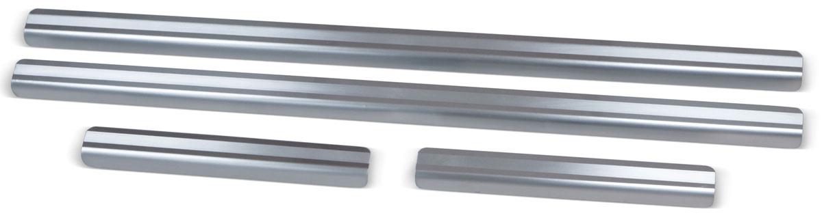 Накладки на пороги Rival, для Volkswagen Tiguan 2016-, 4 шт2706 (ПО)Накладки на пороги Rival создают индивидуальный интерьер автомобиля и защищают лакокрасочное покрытие от механических повреждений.- Использование высококачественной итальянской нержавеющей стали AISI 304 (толщина 0,5 мм).- Надежная фиксация на автомобиле с помощью фирменного скотча 3М на акриловой основе: влагостойкий и морозостойкий.- Устойчивое к истиранию изображение на накладках нанесено методом абразивной полировки.- Идеально повторяют геометрию порогов автомобиля.- Легкая и быстрая установка.