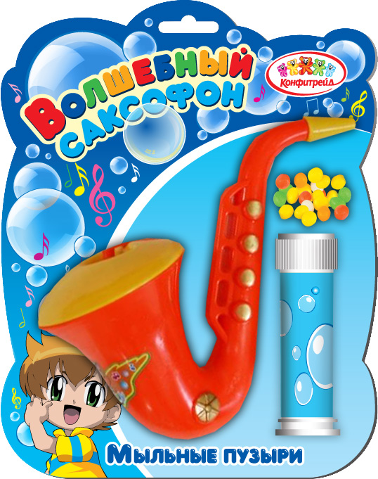 Саксофон фруктовое драже с игрушкой, 5 г0120710Пластмассовый саксофон, бутылочка с мыльным раствором для создания мыльных пузырей + драже в пакетике.УВАЖАЕМЫЕ КЛИЕНТЫ! Товар поставляется в цветовом ассортименте. Поставка осуществляется в зависимости от наличия на складе.