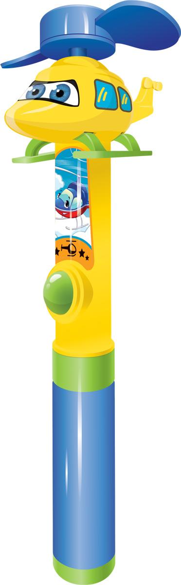Вертолет фруктовое драже с игрушкой-вентилятором, 5 г0120710Пластиковый вентилятор, состоящий из двух частей. Нижняя часть вентилятора в форме трубки, куда вкладывается драже. Туба раскручивается посередине и только тогда можно достать драже. Верхняя часть с фигуркой-вертолетом с вращающимися лопастями. Сбоку на трубочке есть кнопочка при нажатии на которую, лопасти начинают вращаться, гоняя воздух.УВАЖАЕМЫЕ КЛИЕНТЫ! Товар поставляется в цветовом ассортименте. Поставка осуществляется в зависимости от наличия на складе.