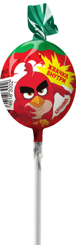 Angry Birds Movie карамель на палочке с жевательной резинкой, 24 штуки по 28 г0120710Карамель на палочке с жвачкойУВАЖАЕМЫЕ КЛИЕНТЫ! Товар поставляется в цветовом ассортименте. Поставка осуществляется в зависимости от наличия на складе.