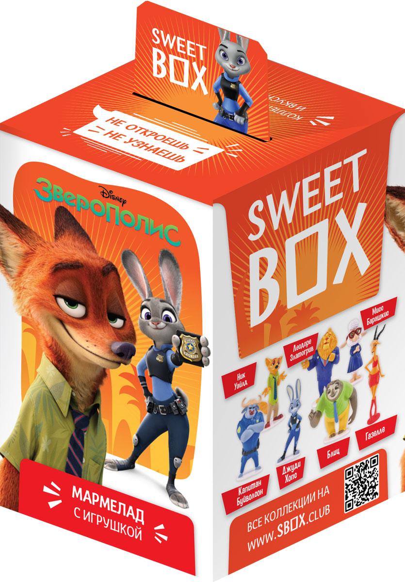 SweetBox Зверополис мармелад с игрушкой, 10 г4680018436501В каждой коробочке коллекционная 3Д - игрушка Зверополис + мармелад.