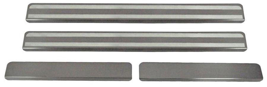 Накладки на пороги Автоброня, для Datsun mi-DO 2015-, 4 шт. NPDAMID0131004900000360Накладки на пороги Автоброня создают индивидуальный интерьер автомобиля и защищают лакокрасочное покрытие от механических повреждений.- В комплект входят 4 накладки (2 передние и 2 задние).- Использование высококачественной итальянской нержавеющей стали AISI 304 (толщина 0,5 мм).- Надежная фиксация на автомобиле с помощью скотча 3М серии VHB.- Устойчивое к истиранию изображение на накладках нанесено методом абразивной полировки.- Идеально повторяют геометрию порогов автомобиля.- Легкая и быстрая установка.