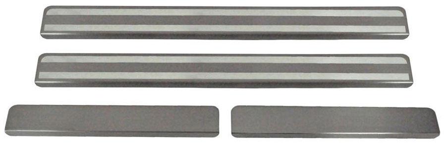 Накладки на пороги Автоброня, для Lada Largus 2012-, 4 шт. NPLALAR013MW-3101Накладки на пороги Автоброня создают индивидуальный интерьер автомобиля и защищают лакокрасочное покрытие от механических повреждений.- В комплект входят 4 накладки (2 передние и 2 задние).- Использование высококачественной итальянской нержавеющей стали AISI 304 (толщина 0,5 мм).- Надежная фиксация на автомобиле с помощью скотча 3М серии VHB.- Устойчивое к истиранию изображение на накладках нанесено методом абразивной полировки.- Идеально повторяют геометрию порогов автомобиля.- Легкая и быстрая установка.