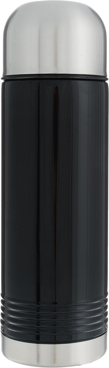 Термос Emsa Senator, цвет: черный, серый, 700 мл115510Термос Emsa Senator имеет прочный корпус из нержавеющей стали. Модель снабжена герметичной пластиковой пробкой, которая предотвращает выливание содержимого. Крышка с внутренним пластиковым покрытием удобно завинчивается и может послужить в качестве чашки для напитков. Термос сохраняет напиток горячим 12 часов, холодным - 24 часа. Диаметр горлышка: 4,5 см. Диаметр основания: 8 см. Высота термоса (с учетом крышки): 26,5 см.Размер крышки: 8 х 8 х 6 см.