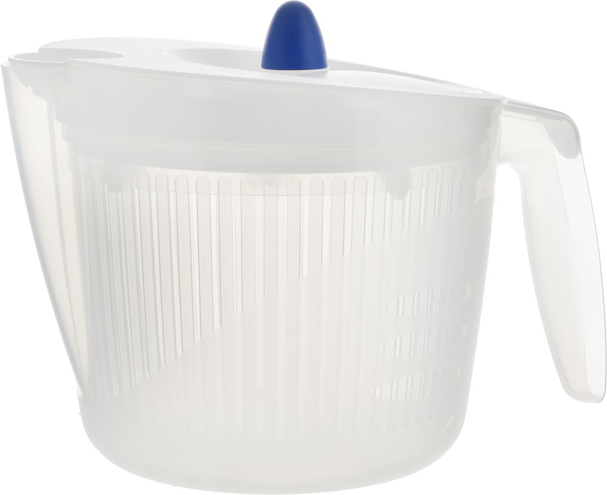 Сушилка для салата Emsa Fit&Fresh, цвет: белый, 2 л68/5/4Сушилка для салата Emsa Fit&Fresh совмещает в себе сушилку, дуршлаг и салатник. Экономит место благодаря небольшому объему. С практичным носиком и мерной шкалой. Можно мыть в посудомоечной машине.Объем чаши: 2 л.Размер сушилки (с учетом ручки, носика и крышки): 23 х 17 х 16,5 см.