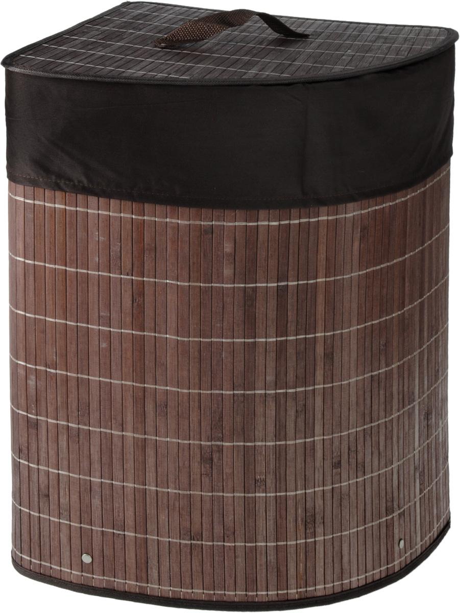 Корзина для белья Athena, угловая, 35 х 35 х 50 см1004900000360Угловая корзина для белья Athena, выполненная из натурального бамбука, предназначена для хранения белья перед стиркой, детских игрушек, домашней обуви и прочих вещей. Бамбук устойчив к перепадам температур и влажности, а также является экологически чистым материалом. Корзина очень легко собирается: в комплекте прилагается подробная инструкция. Внутренний чехол корзины изготовлен из натурального хлопка. Корзина для белья Athena - это функциональная и полезная вещь, которая не только сохранит ваше белье, но и стильно украсит интерьер помещения. Характеристики:Материал: бамбук, хлопок. Размер корзины (ДхШхВ): 35 см х 35 см х 50 см. Размер корзины в сложенном виде (ДхШхВ): 38 см х 5 см х 51 см. Производитель: Эстония. Изготовитель: Китай. Артикул: 11250.