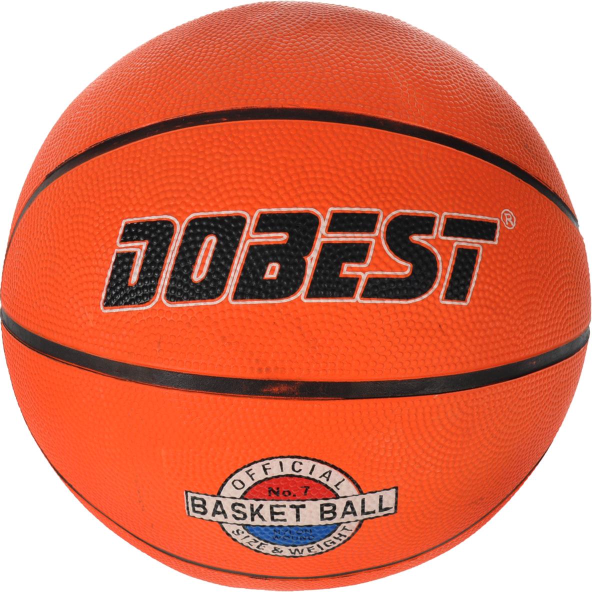 Мяч баскетбольный Dobest, цвет: оранжевый, черный, белый. Размер 765160042Мяч Dobest прекрасно подойдет для игры во всеми любимый, остающийся уже долгие годы актуальным, интересным и популярным видом спорта, баскетбол. Изделие выполнено из высококачественной прочной резины. Подходит для игры на улице и в зале.Ни для кого не секрет, что активные физические нагрузки очень полезны и нужны человеческому организму. А баскетбол, - это, пожалуй, одна из тех игр, в которых активно работают практически все мышцы тела, тренируются лёгкие, выносливость.Вес: 600 г.Количество панелей: 8.Количество слоев: 3.УВАЖЕМЫЕ КЛИЕНТЫ!Обращаем ваше внимание на тот факт, что мяч поставляется в сдутом виде. Насос не входит в комплект.