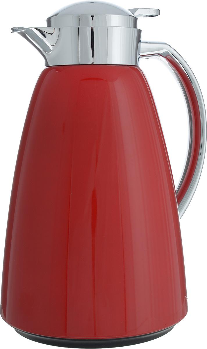 Термос-чайник Emsa Campo, цвет: красный, 1 лТТС-07150Удобный термос-чайник Emsa Campo станет незаменимым аксессуаром в поездках, выездах на природу, дачу, рыбалку или пикник. Корпус изделия выполнен из высококачественной нержавеющей стали и ABS пластика, а колба - из стекла. На крышке изделия имеется кнопка, с помощью которой вы сможете легко открыть герметичный клапан, а удобные носик и ручка позволят аккуратно разлить содержимое по стаканам. Время удержания тепла: 12 ч.Время удержания холода: 24 ч.