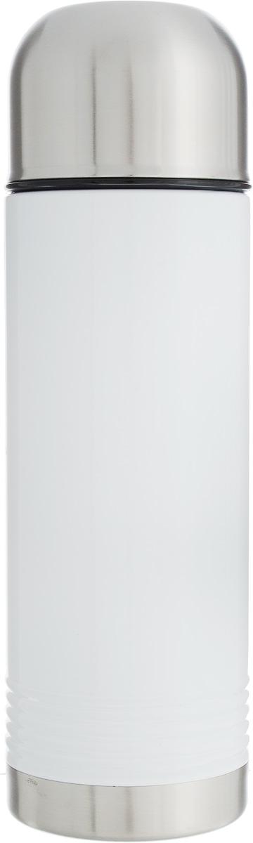 Термос Emsa Senator, цвет: белый, серый, 700 мл115010Термос Emsa Senator имеет прочный корпус из нержавеющей стали. Модель снабжена герметичной пластиковой пробкой, которая предотвращает выливание содержимого. Крышка с внутренним пластиковым покрытием удобно завинчивается и может послужить в качестве чашки для напитков. Термос сохраняет напиток горячим 12 часов, холодным - 24 часа. Диаметр горлышка: 4,5 см. Диаметр основания: 8 см. Высота термоса (с учетом крышки): 26,5 см.Размер крышки: 8 х 8 х 6 см.