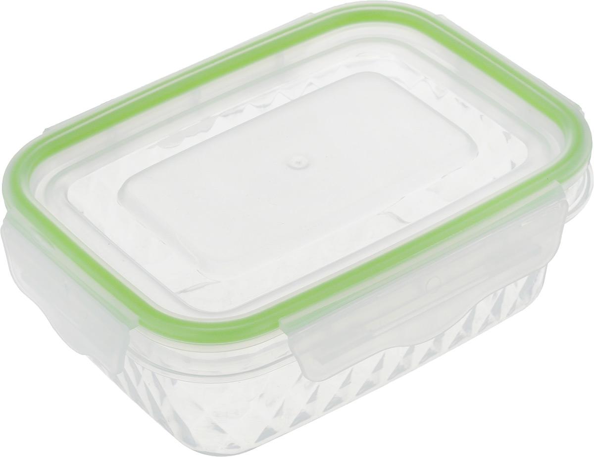 Контейнер пищевой MOULINvilla Diamond, цвет: прозрачный, салатовый, 250 млVT-1520(SR)Прямоугольный контейнер MOULINvilla Diamond изготовлен из высококачественного полипропилена без содержания BPA (бисфенол А), кадмия, хрома, ртути и свинца. Предназначен для хранения и транспортировки горячих и холодных продуктов. Контейнер плотно и герметично закрывается благодаря застежке Clips-Lock. Такая технология крышки обеспечивает 100% герметичность и позволяет сохранять продукты свежими долгое время. Застежка прослужит до 300000 циклов открывания-закрывания. Контейнер не впитывает запахи еды, устойчив к воздействию масел и жиров. Выдерживает температуру от -20 до +105°С. Можно мыть в посудомоечной машине и использовать в микроволновой печи без крышки.