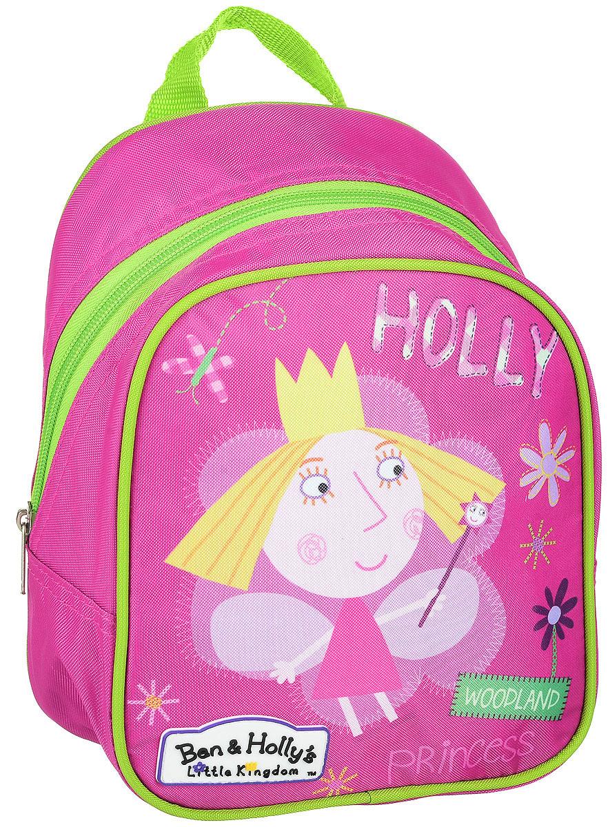 Ben&Holly Рюкзак дошкольный цвет розовый31684Рюкзак дошкольный Ben&Holly- это красивый и удобный аксессуар для вашего ребенка. В его внутреннем отделении на молнии легко поместятся не только игрушки, но даже тетрадка или книжка. Благодаря регулируемым лямкам, рюкзачок подходит детям любого роста. Удобная ручка помогает носить аксессуар в руке или размещать на вешалке. Износостойкий материал с водонепроницаемой основой и подкладка обеспечивают изделию длительный срок службы и помогают держать вещи сухими в дождливую погоду.Аксессуар декорирован ярким принтом (сублимированной печатью), устойчивым к истиранию и выгоранию на солнце.