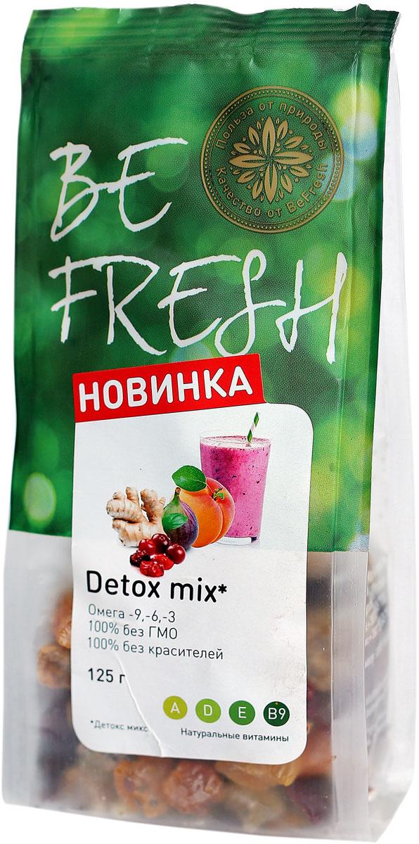 BeFresh Д-токс микс, 125 г0120710Полезные свойства сухофруктов быстро восполнят запасы витаминов и микроэлементов в организме.Рекомендуется употреблять при авитаминозе.Вкусный снэк быстро утолит голод и зарядит энергией на учебе, работе или в поездке.