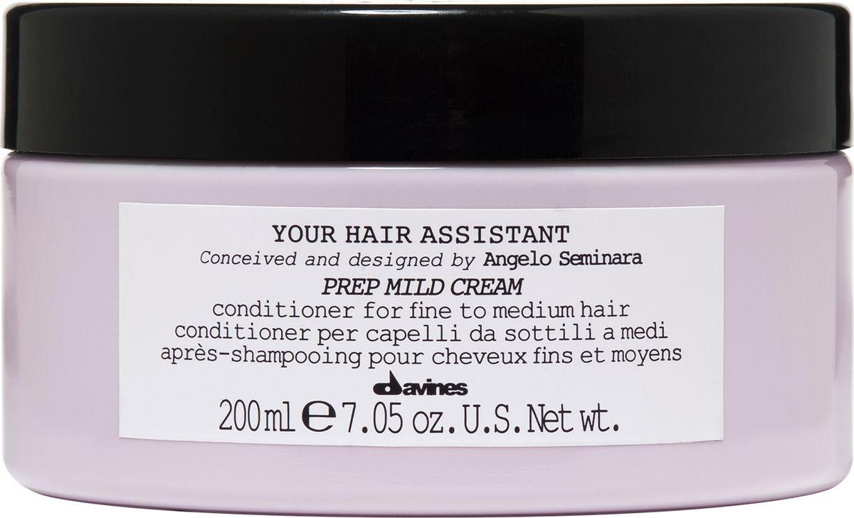 Davines Your Hair Assistant Prep Mild Cream Мягкий кондиционер для подготовки волос к укладке для тонких и нормальных волос, 200 млSatin Hair 7 BR730MNМеня всегда завораживал блеск. Мягкий и интенсивный кондиционеры просто великолепны, это настоящая концентрация блеска. Анджело Семинара.Увлажняющий кондиционер для тонких и нормальных волос. Придает эластичность и уплотняет волосы, не перегружая их. Глубоко увлажняет волосы, облегчает процесс расчесывания. Благодаря кремообразной текстуре кондиционер легко наносится и оставляет волосы мягкими, шелковистыми и уплотненными. Без парабенов.Объем: 200 мл