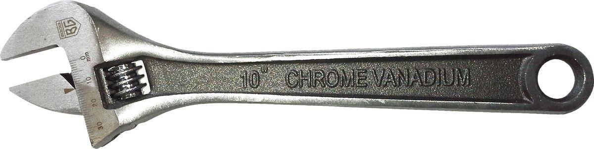 Ключ Berger, разводной, 250 мм. BG116812-4763Ключ разводной 250 мм BERGER BG1168 CR-V, Твердость зажимных поверхностей HRC 40-50