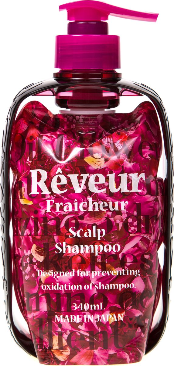 Reveur Fraicheur Scalp Живой Бессиликоновый шампунь для ухода за кожей головы, 340 млCN6625Reveur Fraicheur Scalp – первый в мире живой бессиликоновый шампунь в вакуумной бескислородной упаковке, которая сохраняет натуральные компоненты в неизменном виде от первого и до последнего применения. Запатентованная упаковка не пропускает кислород, поэтому природные ингредиенты не окисляются и сохраняют 100% своих свойств. В уникальный состав входят: аминокислоты, натуральный цветочный мед, витамин В, С и Е, масло кунжутных семян, апельсина, рисовых отрубей, семян баобаба и аргановое масло. Эфирные масла иланг-иланга и плюмерии не только увлажняют волосы и дарят им блеск, но и создают 100% натуральный энергичный аромат пряных тропических цветов. Не содержит силикон. Рекомендуется для: - Активизации волосяных луковиц и стимуляции роста волос - Предотвращения выпадения волос- Питания кожи головы и волос- Возвращения волосам блеска, упругости и шелковистости- Чувствительной кожи головы и предотвращения сезонной перхотиРекомендуется использовать вместе с кондиционером Reveur Fraicheur Scalp. Способ применения: нанести на влажные волосы массажными движениями, вспенить, смыть водой. Инструкция по сбору упаковки: вытащите вакуумную упаковку из диспенсера и снимите с него защитную пленку, закрепите вакуумную упаковку в диспенсере, вставьте помповый механизм через отверстие в диспенсере в вауумную упаковку, плотно закрутите колпачок по часовой стрелке, поверните носик против часовой стрелки до поднятия вверх, нажимайте на носик, чтобы получить средство. Способ хранения: хранить в недоступном для детей месте.