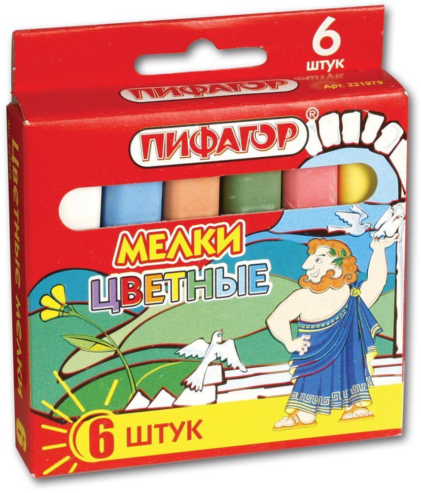 Пифагор Мелки цветные 6 цветов221979Детские мелки Пифагор изготовлены из экологически чистых материалов. Подходят для рисования на любой поверхности.