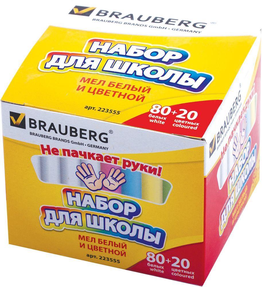 Brauberg Мелки цветные 100 штFS-36052Высококачественныйе школьный мел изготовлен из экологически чистых материалов. Не пачкает руки благодаря формуле Антипыль.