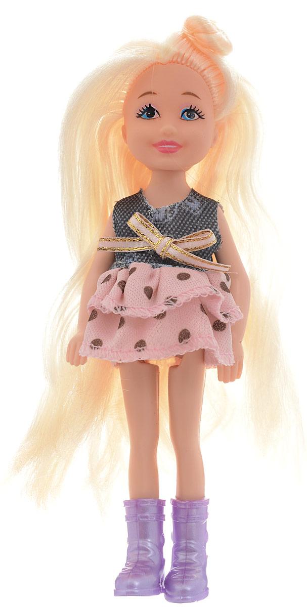 Junfa Toys Мини-кукла Isabella цвет платья розовый серый