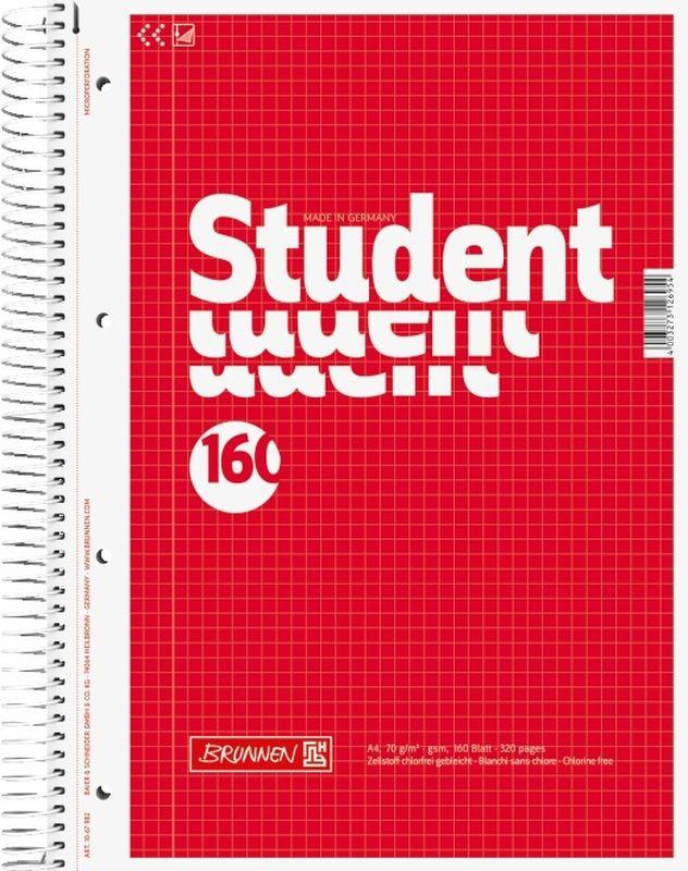 Stewo Тетрадь Student 160 листов в клетку цвет красный67392\BRТетрадь Stewo Student прекрасно подойдет для студентов.Обложка тетради выполнена из плотного картона. Внутренний блок тетради, соединенный спиралью, состоит из 160 листов белой бумаги в клетку. Блок бумаги имеет микроперфорацию и отверстия для подшивки.