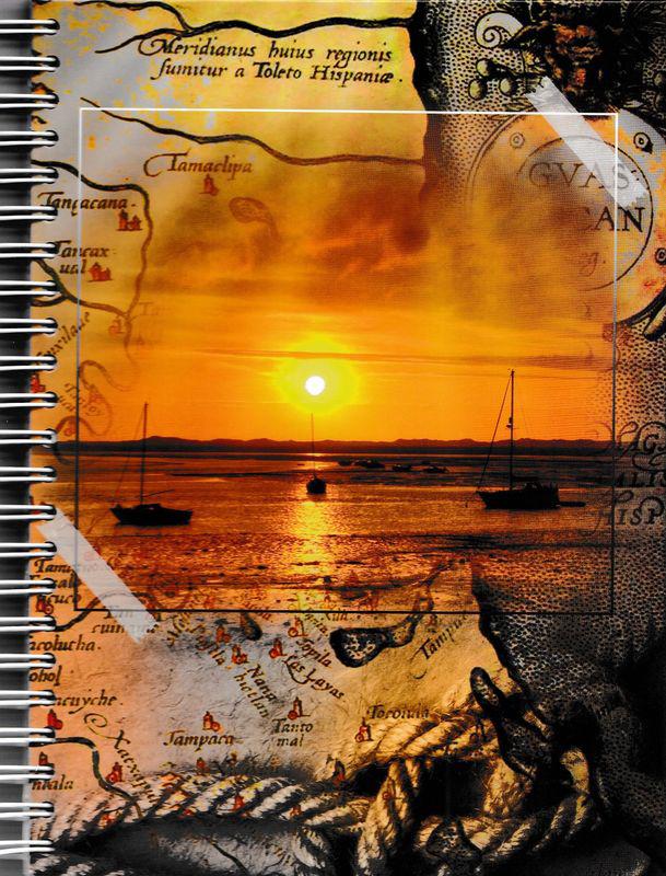 Бриз Блокнот Морской закат в клетку 96 листов1111-104Формат: 145x200 мм.Обложка: переплетный картон, лаковая ламинация.Материал: писчая бумага.Количество листов: 96, в клетку.