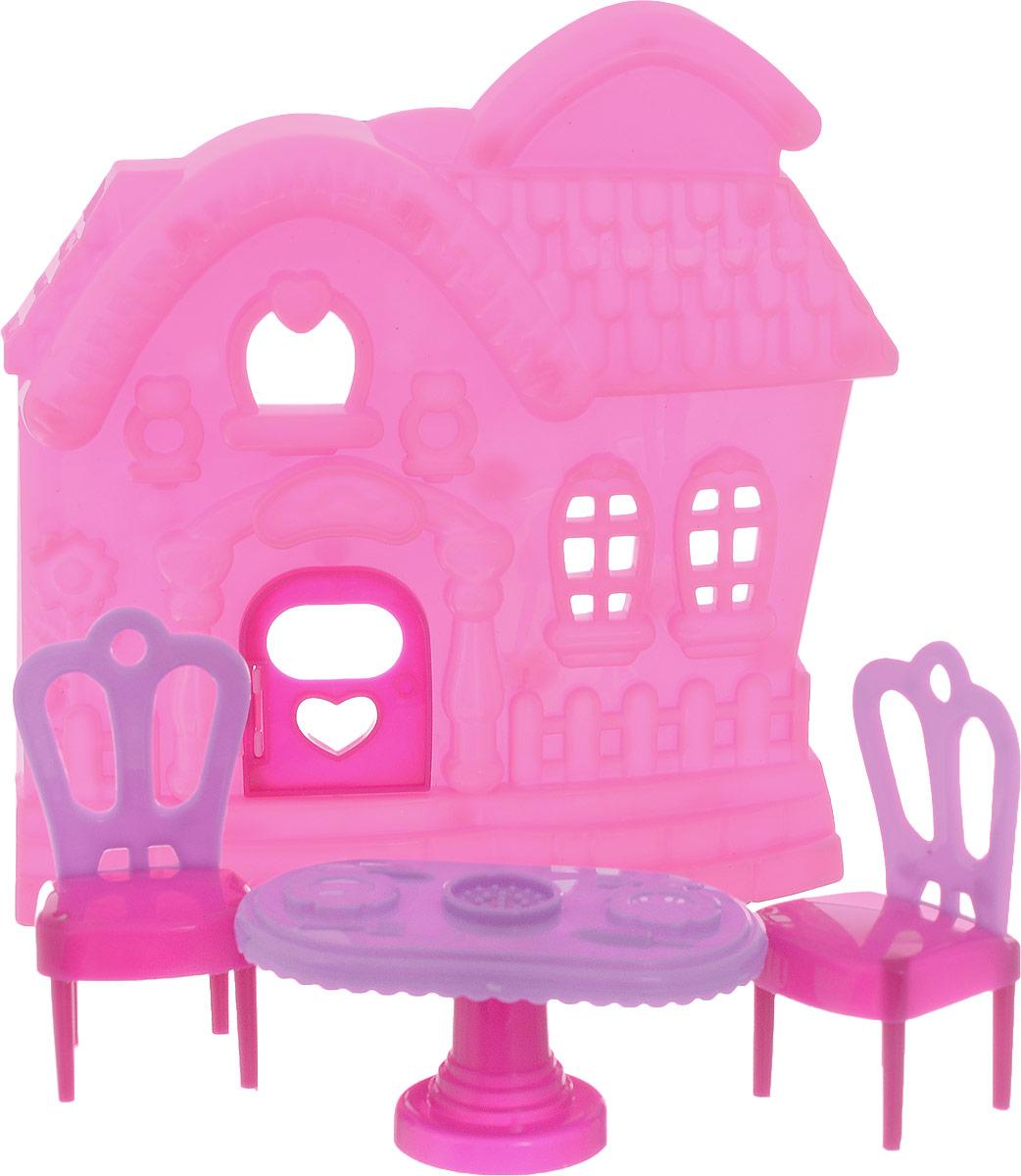 ABtoys Мебель для кукол Домик цвет розовый