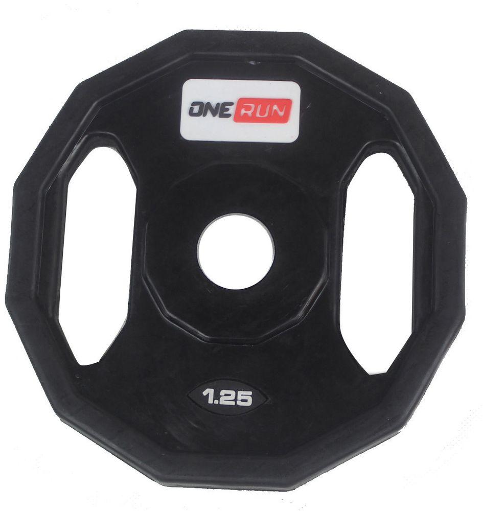 Диск обрезиненный OneRun, с хватом, диаметр 2,6 см, вес 1,25 кгУТ-00009821Диск OneRun имеет специальные хваты, что обеспечит удобство при переноске и установке, а также позволит тренироваться с ним как с отдельным снарядом. Диск имеет стальную посадочную втулку, диаметром 26 мм.