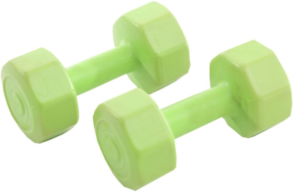 Гантели виниловые OneRun, цвет: зеленый, 1 кг, 2 штSF 0085Гантели OneRun идеально подходят домашних тренировок и служат для укрепления мышцы рук, груди и плеч. Внешняя оболочка привлекательной расцветки сделана из прочного ПВХ, наполнитель - композитная смесь цемента и песка. Гантели имеют специальную форму, которая предотвращает качение.Комплектация: 2 гантели по 1 кг.