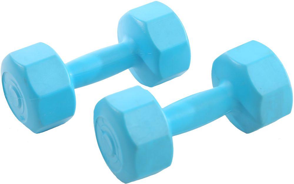 Гантели виниловые OneRun, цвет; голубой, 2 кг, 2 шт495-4811Гантели OneRun идеально подходят домашних тренировок и служат для укрепления мышцы рук, груди и плеч. Внешняя оболочка привлекательной расцветки сделана из прочного ПВХ, наполнитель - композитная смесь цемента и песка. Гантели имеют специальную форму, которая предотвращает качение.Комплектация: 2 гантели по 2 кг.