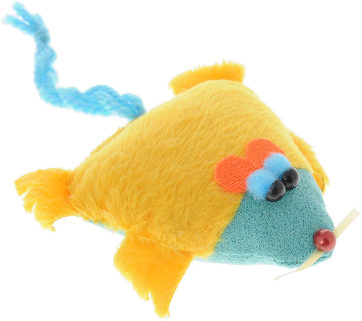 Игрушка для кошек GLG Мышка-норушка, цвет: желтый, голубойGLG039_желтыйИгрушка для кошек GLG Мышка-норушка, выполненная из текстиля с наполнителем из синтепона, не позволит заскучать вашему пушистому питомцу. Играя с этой забавной игрушкой, маленькие котята развиваются физически, а взрослые кошки и коты поддерживают свой мышечный тонус. Игрушка оснащена черными глазками-бусинками и длинным хвостом.Такая игрушка порадует вашего любимца, а вам доставит массу приятных эмоций, ведь наблюдать за игрой всегда интересно и приятно. Размер игрушки (с учетом хвоста): 8,5 х 2,5 х 16 см.Уважаемые клиенты!Обращаем ваше внимание на возможные изменения в цвете деталей товара. Поставка осуществляется в зависимости от наличия на складе.
